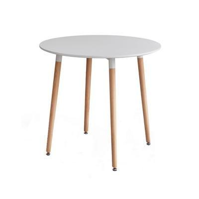 Kerek étkezőasztal, 4 lábbal, 80 cm, fehér-bükk - FJORD